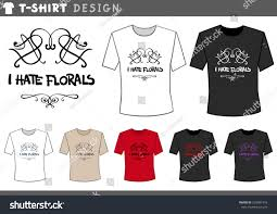 illustration tshirt design template floral humorous stock vector