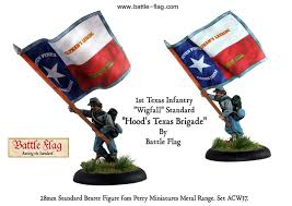 Miniature Flags The Standard Of The 1st Texas Infantry From Battle Flag Battle Flag
