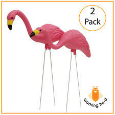 flamingo metal statues ornaments ebay