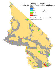 california native plant list spatial analysis ecological impact analyses sensitive habitat