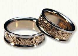 personalized wedding band personalized celtic wedding rings by designet best prices