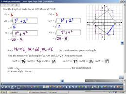 Transformations Geometry Worksheet Representing And Describing Transformations Youtube