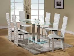 glass dining room table set glass and metal kitchen table sets home design style ideas glass