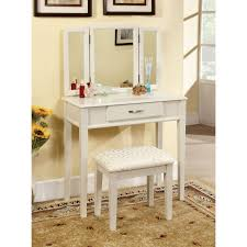 Glass Vanity Table Bedroom Small Dressing Table With Mirror Makeup Table With