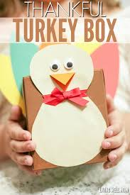 how to make a thankful turkey box