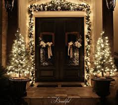 Christmas Decorations For Front Door Porch by Christmas Porch And Front Door Garland Diy Hometalk