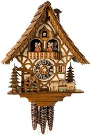 Modern Cuckoo Clock Hones Chalet Style One Day Musical Cuckoo Clock With Moving Head