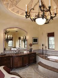 the best decoration bathroom in spanish bathroom decor koonlo bathroom decor medium size cream wall paint chandelier dark brown real wood vanity granite countertop mounted