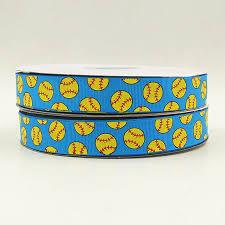 softball ribbon wm ribbon 7 8inch 22mm 160328001 softball on 328 island blue print