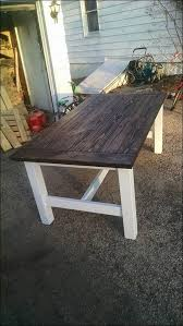 Kitchen  Metal Base Wood Top Dining Table Antique Metal Kitchen - Vintage metal kitchen table