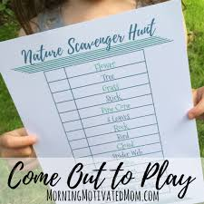 get outdoors with your kids u0026 nature scavenger hunt printable