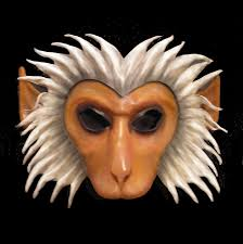 leather mardi gras masks leather monkey mask macaque hanuman by teonova on deviantart