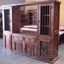 old wood copper entertainment center demejico