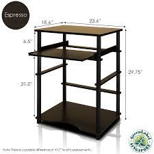 Furinno 10016ex Bk Home Laptop Notebook Computer Desk Espresso Black