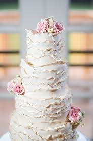 hand ruffled wedding cake with gilded edges cakecentral com