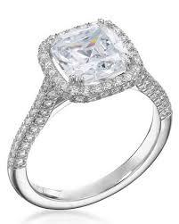 diamond weddings rings images Cushion cut diamond engagement rings martha stewart weddings jpg