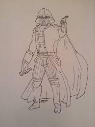 darth vader sketch star wars amino