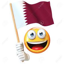 Flag Of Qatar Emoji Holding Qatar Flag Emoticon Waving National Flag Of Qatar