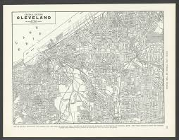 Cleveland Zip Code Map Vintage Map Cleveland Ohio From 1937 Original