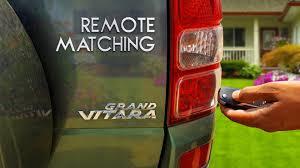 suzuki grand vitara remote matching youtube