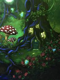 Girls Enchanted Forest Bedroom Enchanted Forest Bedroom Mural Under The Blacklight Fairy Tree