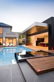 Cool Houses With Pools Contemporary House Architecture With A Cool Pool Big Windows And