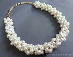 pearl necklace jewellery making images 15 beautiful diy projects made with pearls jpg