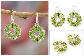 bengali earrings unicef uk market peridot and sterling silver earrings from