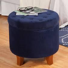 Navy Blue Storage Ottoman Sofa Navy Blue Storage Ottoman Fabric Ottoman Large Tufted