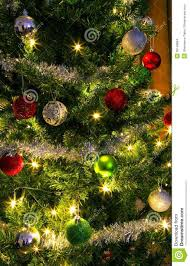 Christmas Garland With Lights by Christmas Tree With Silver Trim And Lights Stock Images Image
