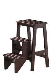 wood step stool folding wooden platform 3 ladder kitchen office