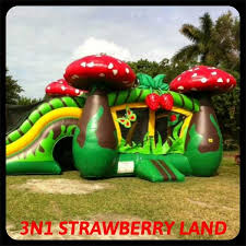 bounce house rental miami 3n1 strawberry land combo