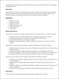 Music Resume Examples by How To Write A Music Resume Samples Of Resumes Resume Examples For