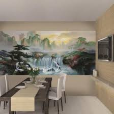 Waterfall Asian Wall Murals Idea For Dining Room Bedroom Or Living - Dining room mural