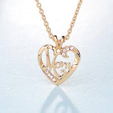 necklaces for mothers shape letter pendant necklaces s day pendants gift