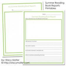 summer reading program book reports worksheets for kids tip junkie