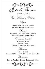 wedding menu template 26 images of wedding food menu template blank eucotech