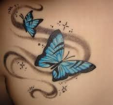 beautiful butterfly and on the back