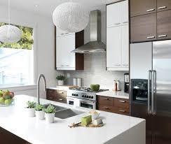 cuisine armoire brune du contraste dans la cuisine maison et demeure