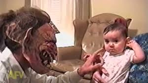 halloween baby face mask baby more afraid of dad u0027s face than monster mask youtube