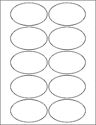 2 X 4 Label Template 10 Per Sheet Oval Labels Oval Stickers From Onlinelabels Com Ol894 3 25 X 2
