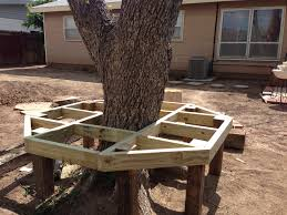 Wood Bench Plans Deck by Diy Bench Around Tree Our Diy Projects That We Have Done