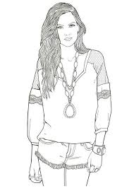 390 coloring pages girly fashion images