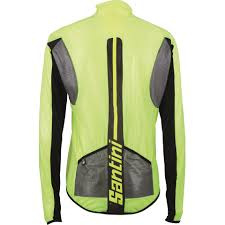 lightweight windproof cycling jacket santini balthus lightweight windproof jacket transparent yellow