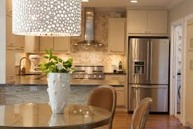 lighting contemporary kitchen design with large drum dots funky