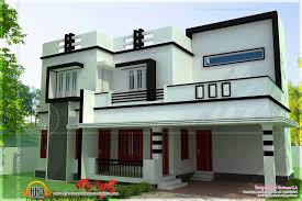 kerala home design flat roof elevation house plan enchanting roofing designs for small houses with
