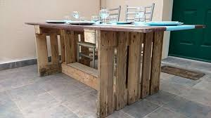 Pallet Dining Room Table Pallet Dining Table With Mdf Plate Top