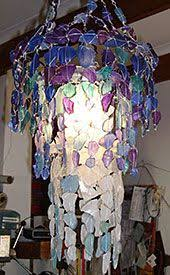 Sea Glass Chandelier Diy Sea Glass Chandelier Google Search Detalles Pinterest
