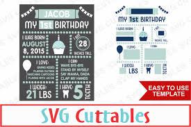 birthday board birthday board cut file by svg cuttables design bundles