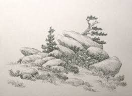11 best drawing stones rocks mountain images on pinterest